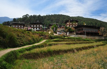 On our way to the hilltop monastery
