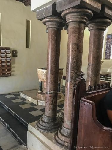Upside down pillars